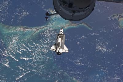 Space Shuttle Atlantis over the Bahamas--Photographic Print