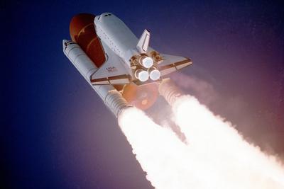 STS-43 LaunchSpace Shuttle Atlantis 8X12 PHOTOGRAPH