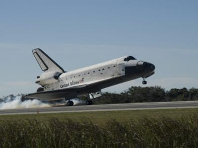 Space Shuttle Atlantis Touches Down at Kennedy Space Center, Florida