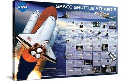 Space Shuttle Atlantis--Stretched Canvas Print