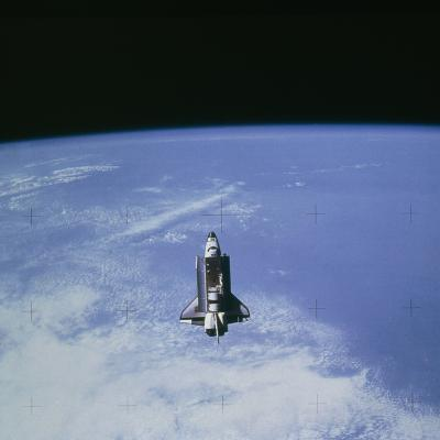 Space Shuttle Challenger STS-7 Orbiting Earth.--Photographic Print