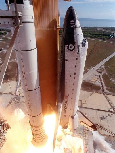 Space Shuttle Columbia Lifts Off the Launch Pad--Photo