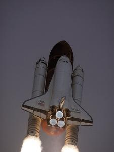 Space Shuttle Discovery Launched with Hubble Space Telescope in its Cargo Bay, April 24, 1990
