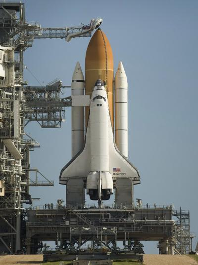 Space Shuttle Discovery Sits Ready on the Launch Pad at Kennedy Space Center--Photographic Print