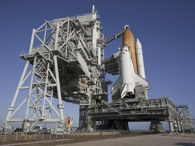 Space Shuttle Endeavour Atop a Mobile Launcher Platform at Kennedy Space Center--Photographic Print