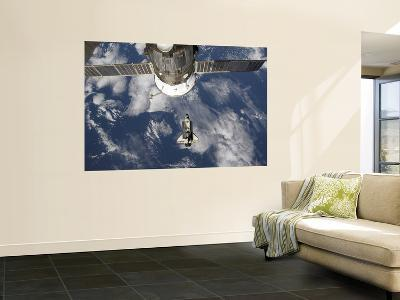 Space Shuttle Endeavour Backdropped by a Blue and White Earth--Giant Art Print