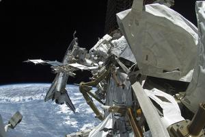 Space Shuttle Endeavour Docked to the International Space Station
