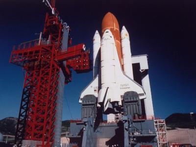 Space Shuttle Enterprise Sitting on Launch Pad at Vandenberg Space Shuttle Complex--Premium Photographic Print