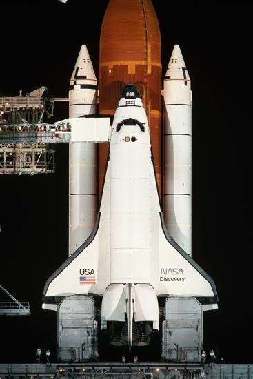 Space Shuttle Illuminated at Night-Roger Ressmeyer-Photographic Print