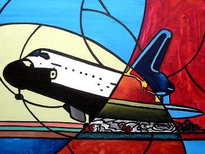Space Shuttle Landing-Cindy Thornton-Art Print