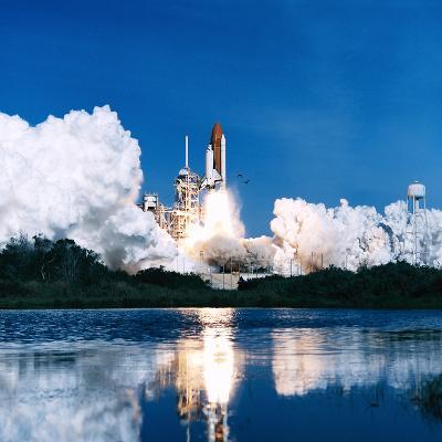 Space Shuttle Launch-Stocktrek Images-Photographic Print