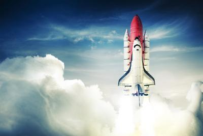 Space Shuttle Taking off on a Mission-Fer Gregory-Photographic Print