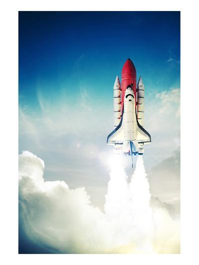 Space Shuttle Taking Off--Art Print