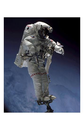 Space Shuttle Walk--Art Print