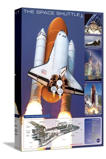 Space Shuttle--Stretched Canvas Print