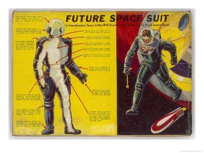 Space Suit as Foreseen in 1939-Frank R^ Paul-Giclee Print