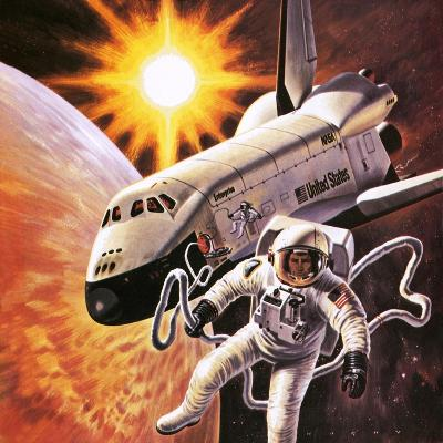 Space Suit, as Imagined in 1977-English School-Giclee Print
