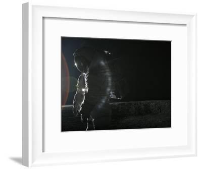 Space suit undergoes testing in the Johnson Space Center's lunar yard-Mark Thiessen-Framed Photographic Print