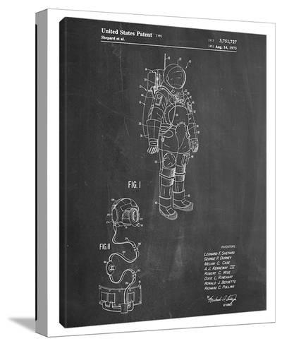 Space Suit-Cole Borders-Stretched Canvas Print