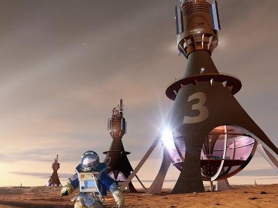 Space Tourism on Mars-Detlev Van Ravenswaay-Photographic Print