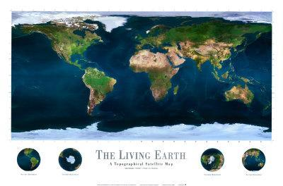 Spaceshots   The Living Earth Art Print By | The NEW Art.com