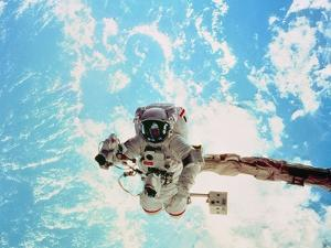 Spacewalk During Shuttle Mission STS-69