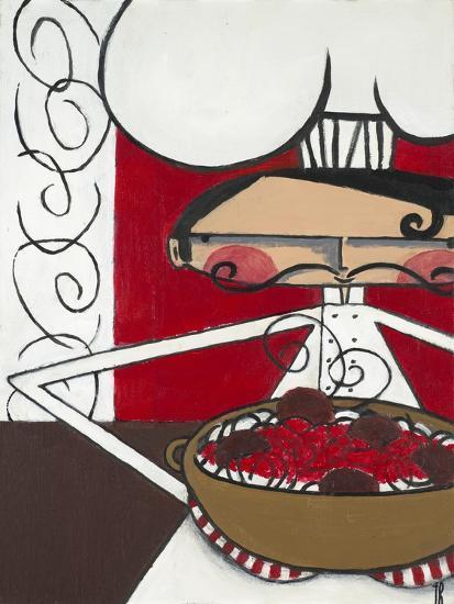 'Spaghetti and Meatballs' Art Print - Terri Burris | Art.com