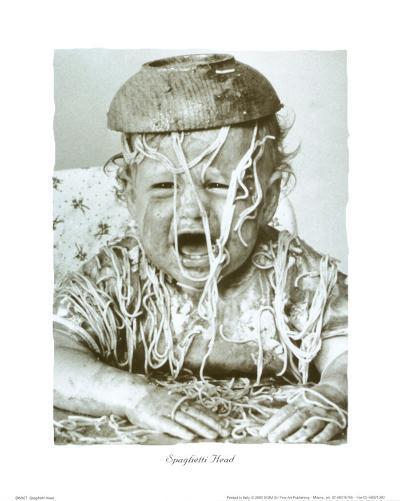Spaghetti Head--Art Print