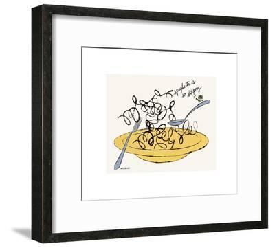 Spaghetti is So Slippery, c. 1958-Andy Warhol-Framed Giclee Print