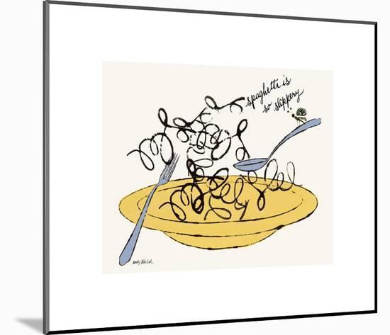 Spaghetti is So Slippery, c. 1958-Andy Warhol-Mounted Giclee Print