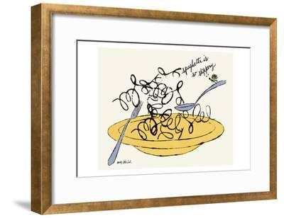 Spaghetti is So Slippery, c. 1958-Andy Warhol-Framed Art Print