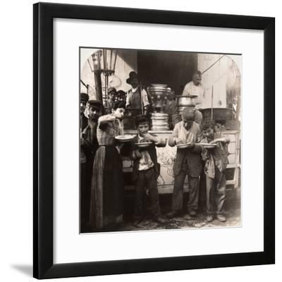 Spaghetti Vendor, C1908--Framed Photographic Print