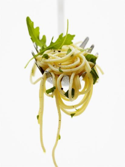 Spaghetti with Rocket on Spaghetti Server-Marc O^ Finley-Photographic Print