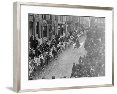 Spahis of Algeria at Furnes, 1914-15--Framed Photographic Print