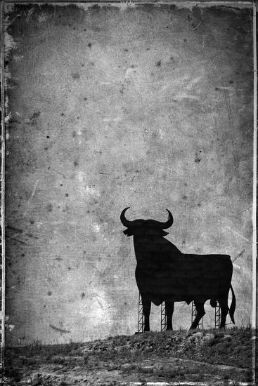 Spain, Andalucia, Jerez De la Frontera, El Cuadrejon, An Osborne Bull or Toro De Osborne-Alan Copson-Photographic Print