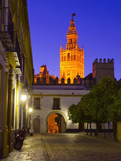 Spain, Andalucia, Seville Province, Cathedral of Seville, the Giralda Tower-Alan Copson-Photographic Print
