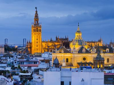 Spain, Andalucia, Seville Province, Seville,  Cathedral of Seville, the Giralda Tower-Alan Copson-Photographic Print