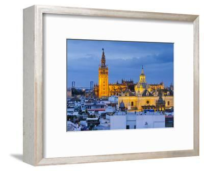 Spain, Andalucia, Seville Province, Seville,  Cathedral of Seville, the Giralda Tower-Alan Copson-Framed Photographic Print