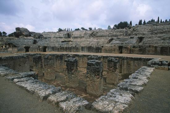 Spain, Andalusia, Ancient Italica, Central Arena Underground Spaces of Amphitheatre--Giclee Print