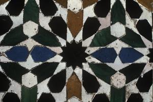 Spain, Andalusia, Granada, Alhambra, Detail, Azulejo
