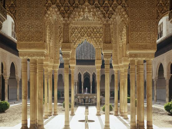 Spain, Andalusia, Granada, Alhambra, Lion's Court-Thonig-Photographic Print