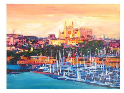 Spain Balearic Island Palma De Mallorca With Harbour And Cathedral Neu-M Bleichner-Art Print