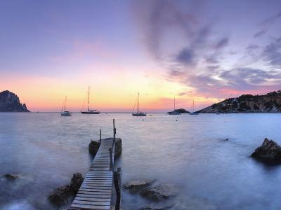 Spain, Balearic Islands, Ibiza, Cala D'Hort Beach and Es Vedra Island-Michele Falzone-Photographic Print