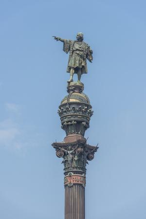 Spain, Barcelona, Christopher Columbus Monument-Jim Engelbrecht-Photographic Print