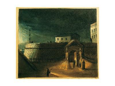 Spain. Barcelona. Dockyards Door and Ascent to the Wall of Sea--Giclee Print