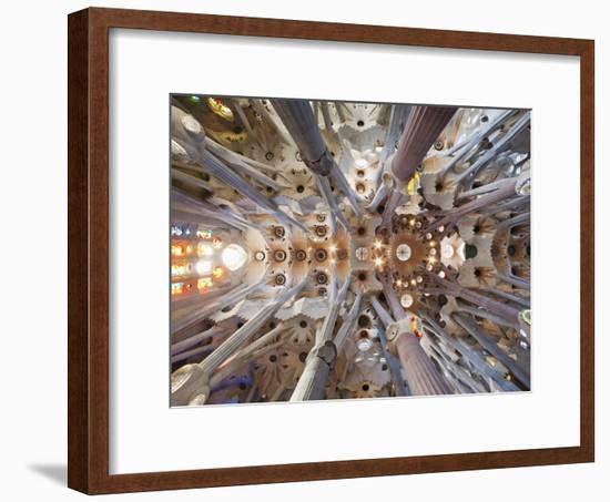 Spain, Barcelona, Sagrada Familia, Interior-Steve Vidler-Framed Photographic Print