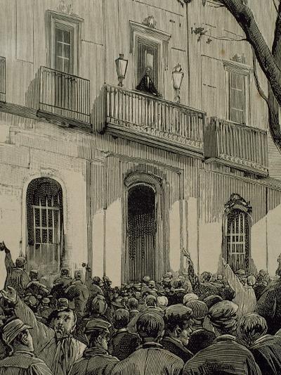 Spain, Barcelona, Working Demonstration--Giclee Print
