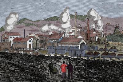 Spain, Barruelo Mines, 19th Century--Giclee Print