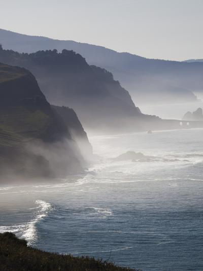 Spain, Basque Country Region, Vizcaya Province, Cabo Machichaco Cape, Seascape, Basque Coast-Walter Bibikow-Photographic Print