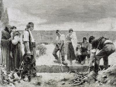 Spain, Burial,--Giclee Print